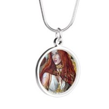 Boudica squ Silver Round Necklace