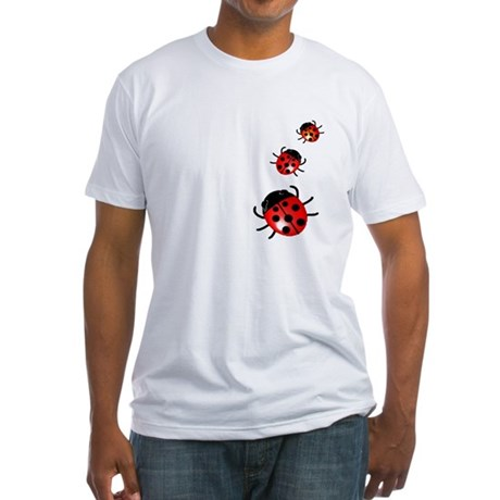 Ladybugs Fitted T-Shirt