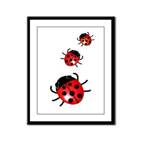 Ladybugs Framed Panel Print