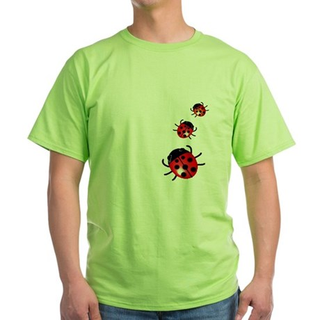Ladybugs Green T-Shirt