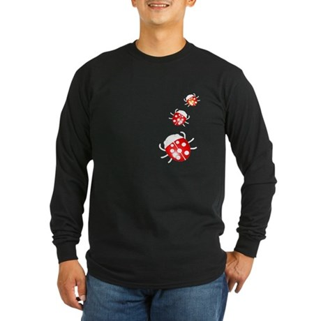 Ladybugs Long Sleeve Dark T-Shirt
