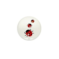 Ladybugs Mini Button (10 pack)