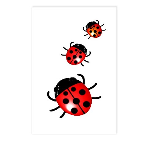 Ladybugs Postcards (Package of 8)