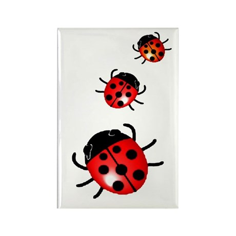 Ladybugs Rectangle Magnet (100 pack)