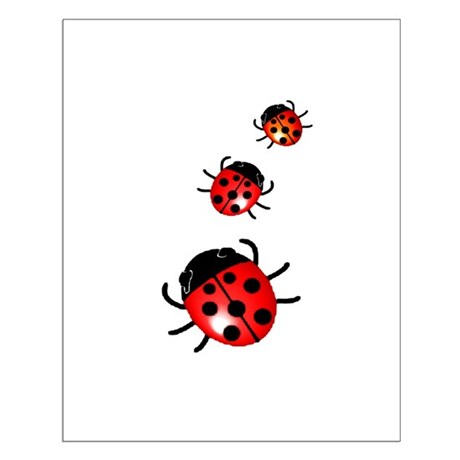 Ladybugs Small Poster