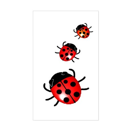 Ladybugs Rectangle Sticker