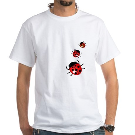 Ladybugs White T-Shirt