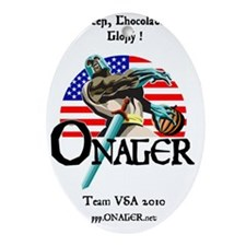 Onager Team USA calendar Oval Ornament