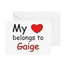 My heart belongs to gaige Greeting Cards (Package
