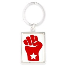 2-fist-rounded Portrait Keychain