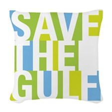 savegulf-01 Woven Throw Pillow