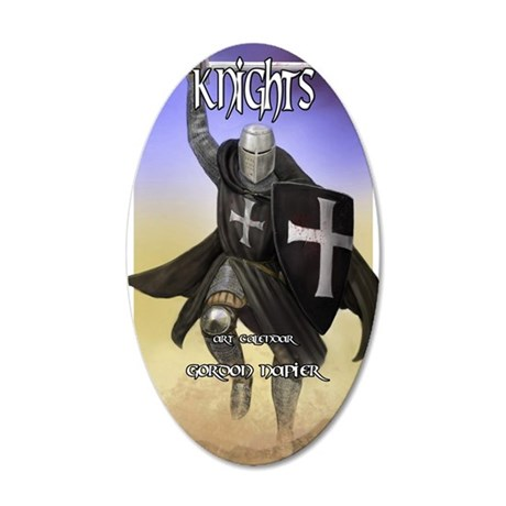 Hospitaller cal cov 35x21 Oval Wall Decal