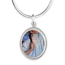 Cassat Silver Oval Necklace