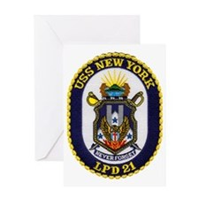 new york patch transparent Greeting Card