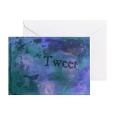 Twitter_Dark_03 Greeting Card