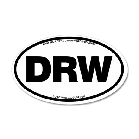 2-DRW 35x21 Oval Wall Decal