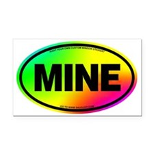 2-MINE Rectangle Car Magnet