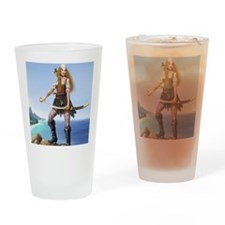 pirate wench square Drinking Glass