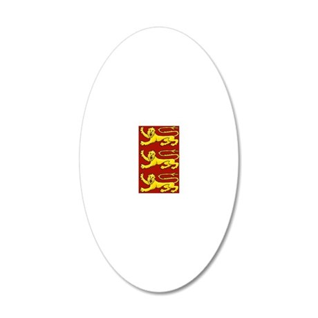 lion passant for cards etc 20x12 Oval Wall Decal