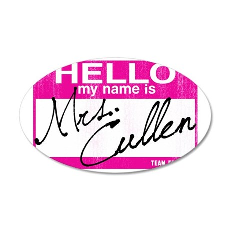 Hello Mrs cullen-sm 35x21 Oval Wall Decal