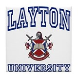 LAYTON University Tile Coaster