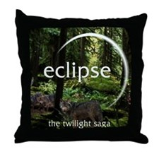 Eclipse Hidden Wolfes Throw Pillow
