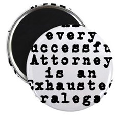 Behind every Attorney_blk Magnet