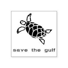 """turtle-oil Square Sticker 3"""" x 3"""""""