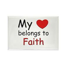 My heart belongs to faith Rectangle Magnet