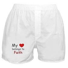My heart belongs to faith Boxer Shorts