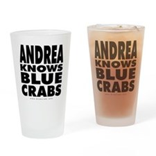Andrea-Knows-Blue-Crabs Drinking Glass