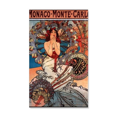 MONACO MONTE CARLO,1897 20x12 Wall Decal