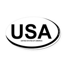 USA oval rec 1 Oval Car Magnet