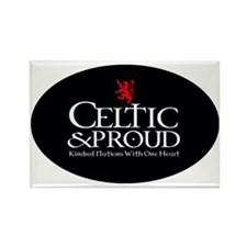 CelticProud_Scotland5x3oval_stick Rectangle Magnet