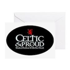 CelticProud_Scotland5x3oval_sticker Greeting Card