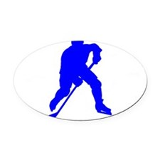 Hockey USA2 Oval Car Magnet