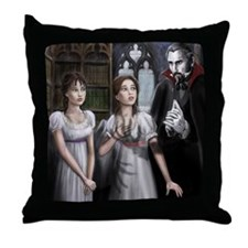 draculas library Throw Pillow