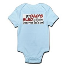 My Dad's Sled Infant Bodysuit