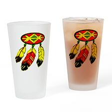 blk_Mandela_3_Feathers Drinking Glass