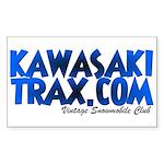 KawasakiTrax.com Logo Rectangle Sticker