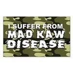 Mad Kaw Disease Rectangle Sticker