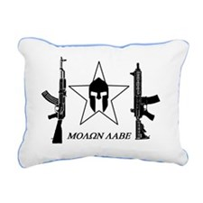 mOLON LABE black star 2. Rectangular Canvas Pillow