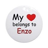 My heart belongs to enzo Ornament (Round)