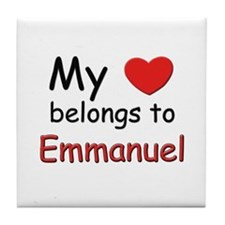 My heart belongs to emmanuel Tile Coaster