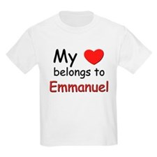My heart belongs to emmanuel Kids T-Shirt