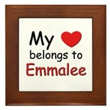 My heart belongs to emmalee Framed Tile