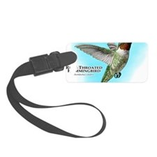 Ruby-Throated Hummingbird Luggage Tag