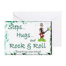 steps hugs rocker Greeting Card