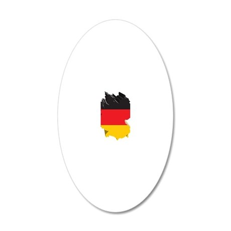 3DGermany1 20x12 Oval Wall Decal