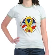 BLESS OUR TROOPS RIBBON T
